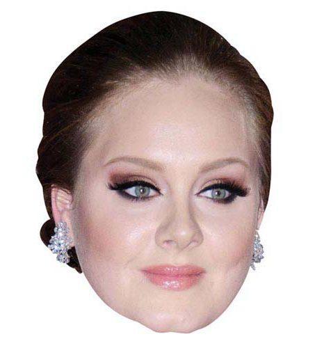 A Cardboard Celebrity Mask of Adele