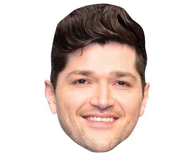 A Cardboard Celebrity Mask of Danny O'Donoghue
