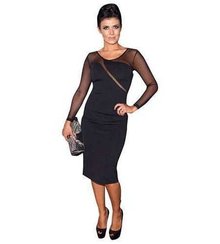 A Lifesize Cardboard Cutout of Kym Marsh wearing a black dress