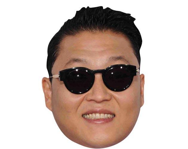 A Cardboard Celebrity Mask of Psy