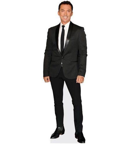 A Lifesize Cardboard Cutout of Bruno Tonioli wearing a black suit