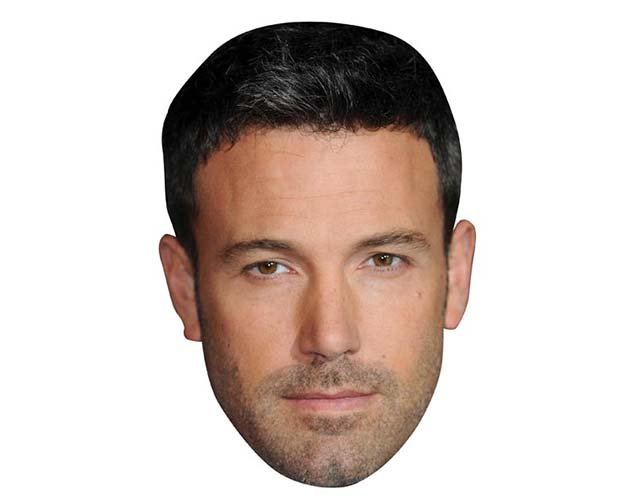 A Cardboard Celebrity Mask of Ben Affleck