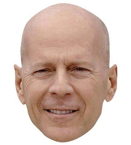 A Cardboard Celebrity Mask of Bruce Willis
