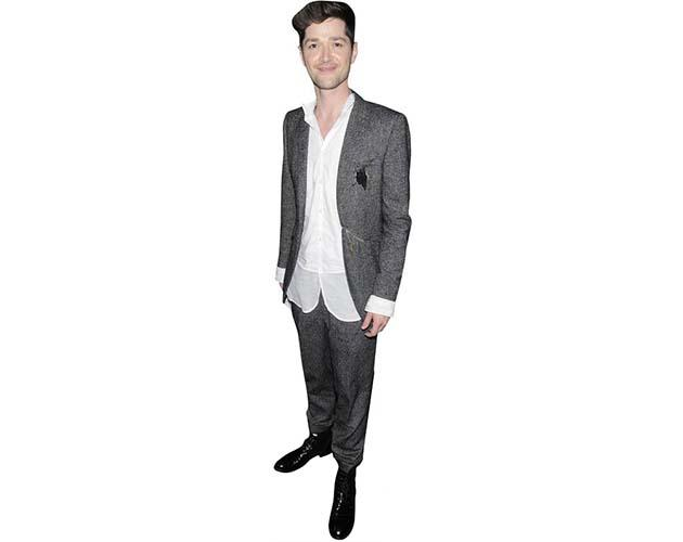 A Lifesize Cardboard Cutout of Danny O'Donoghue wearing a grey jacket