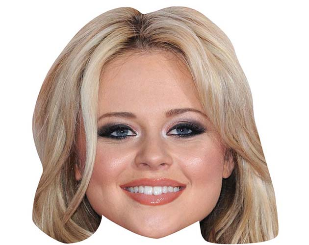 A Cardboard Celebrity Mask of Emily Atack