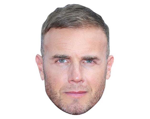 A Cardboard Celebrity Mask of Gary Barlow