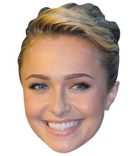 A Cardboard Celebrity Mask of Hayden Panettiere