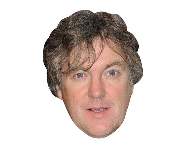A Cardboard Celebrity Mask of James May