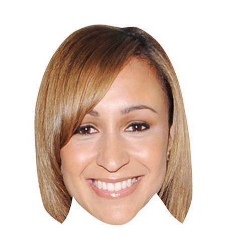 A Cardboard Celebrity Mask of Jessica Ennis