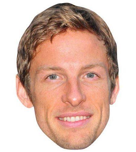 A Cardboard Celebrity Mask of Jenson Button