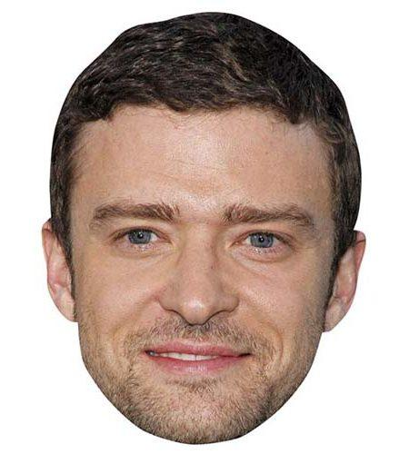 A Cardboard Celebrity Mask of Justin Timberlake
