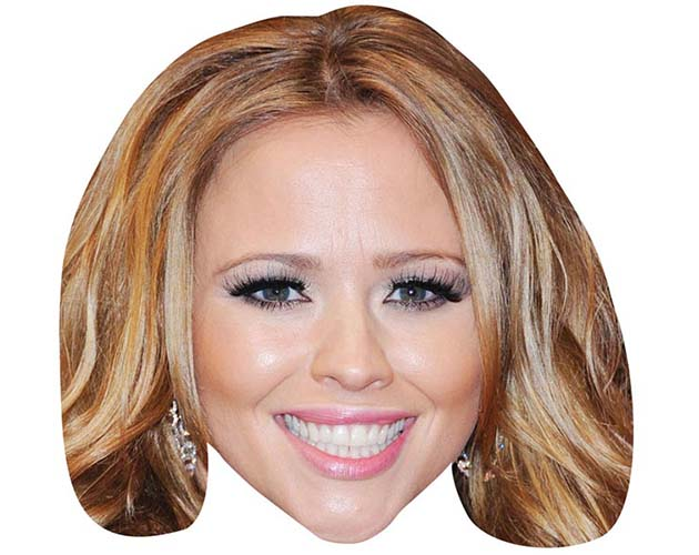 A Cardboard Celebrity Mask of Kimberley Walsh
