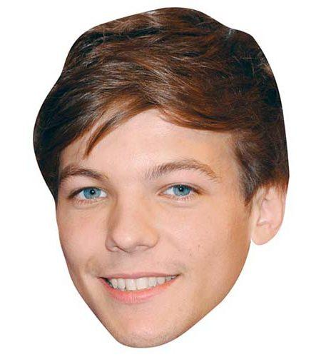 A Cardboard Celebrity Mask of Louis Tomlinson