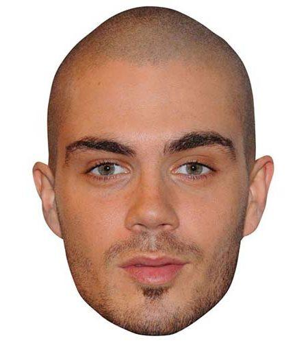 A Cardboard Celebrity Mask of Max George