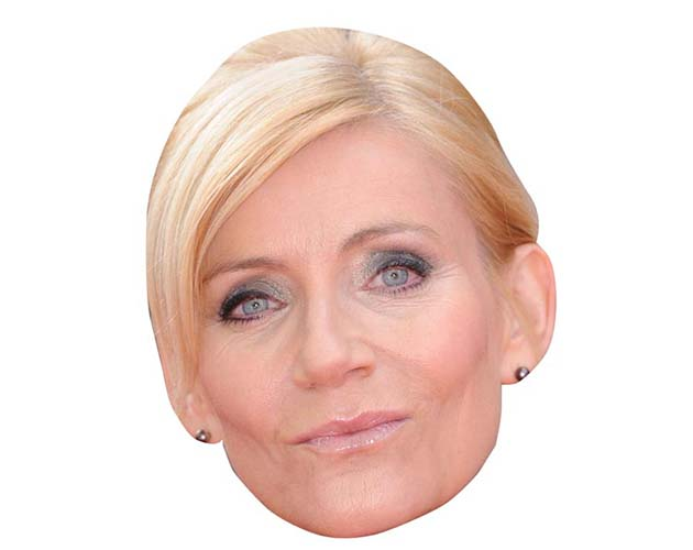 A Cardboard Celebrity Mask of Michelle Collins