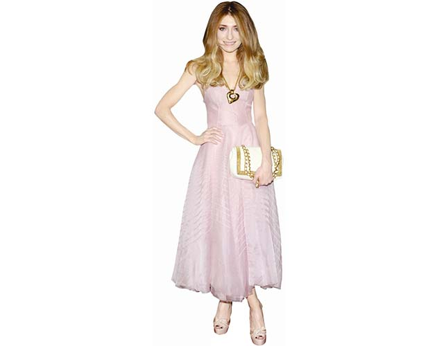 A Lifesize Cardboard Cutout of Nicola Roberts wearing a pale dress