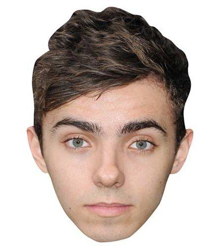 A Cardboard Celebrity Mask of Nathan Sykes
