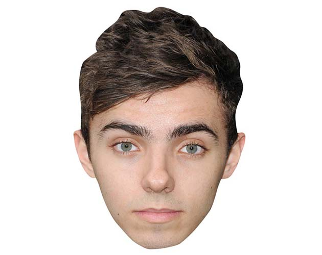 A Cardboard Celebrity Mask of Nathan Sykes