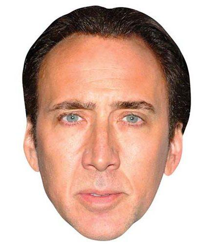 A Cardboard Celebrity Mask of Nicolas Cage