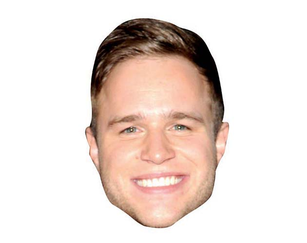 A Cardboard Celebrity Mask of Olly Murs