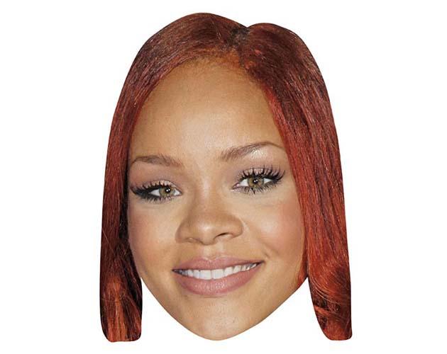 A Cardboard Celebrity Mask of Rihanna