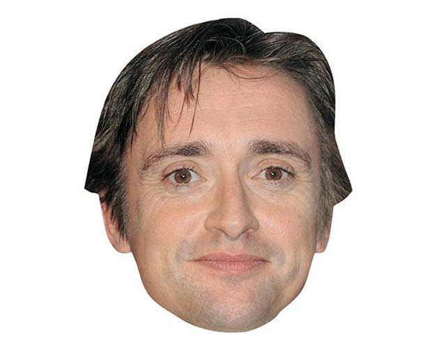 A Cardboard Celebrity Mask of Richard Hammond