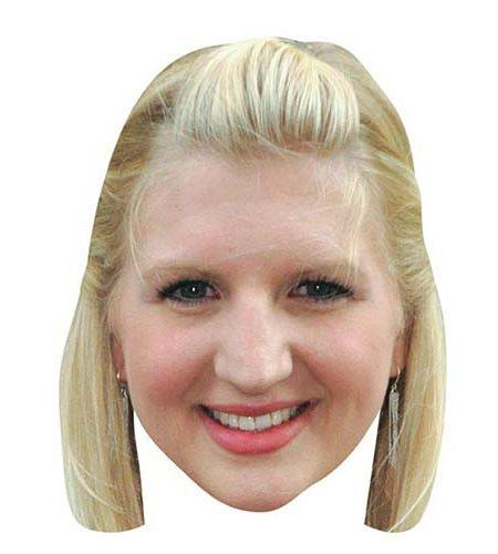 A Cardboard Celebrity Mask of Rebecca Adlington