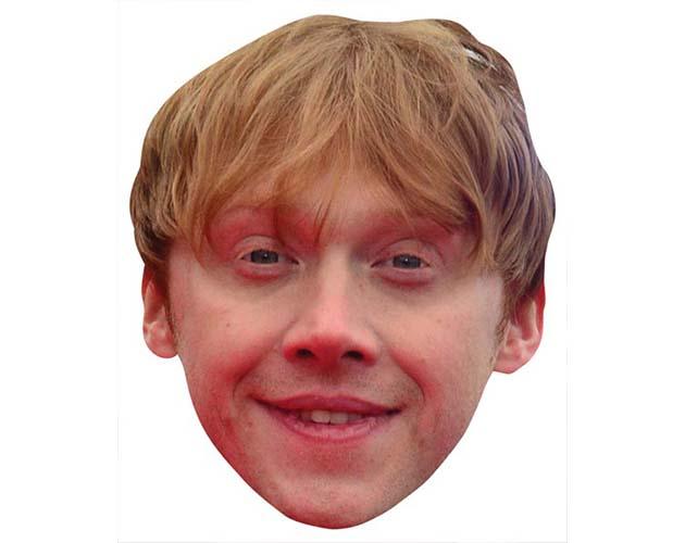 A Cardboard Celebrity Mask of Rupert Grint
