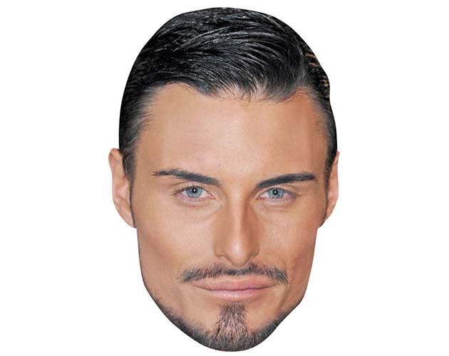 A Cardboard Celebrity Mask of Rylan Clark
