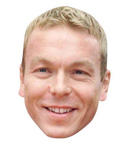 A Cardboard Celebrity Mask of Chris Hoy