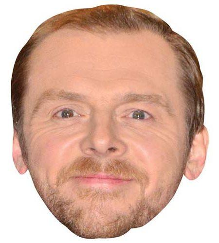 A Cardboard Celebrity Big Head of Simon Pegg