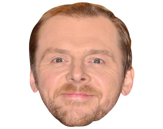 A Cardboard Celebrity Mask of Simon Pegg