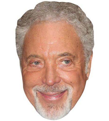 A Cardboard Celebrity Mask of Tom Jones