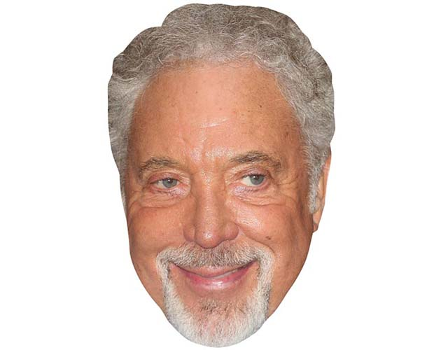 A Cardboard Celebrity Mask of Tom Jones