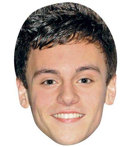 A Cardboard Celebrity Mask of Tom Daley