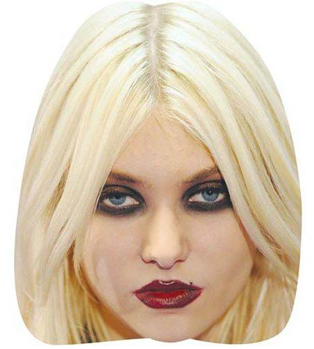 A Cardboard Celebrity Mask of Taylor Momsen