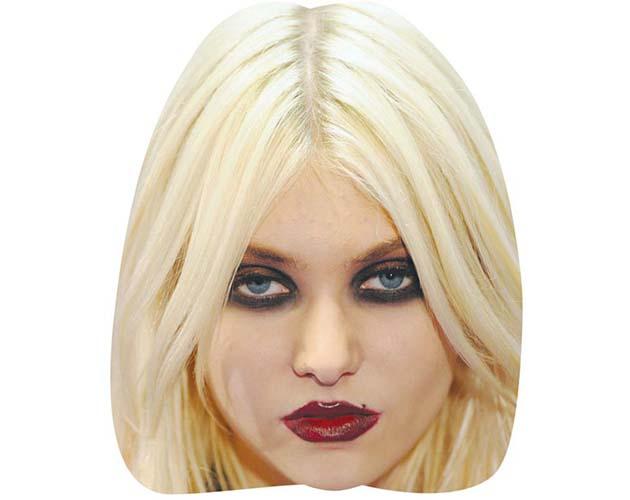 A Cardboard Celebrity Mask of Taylor Momsen