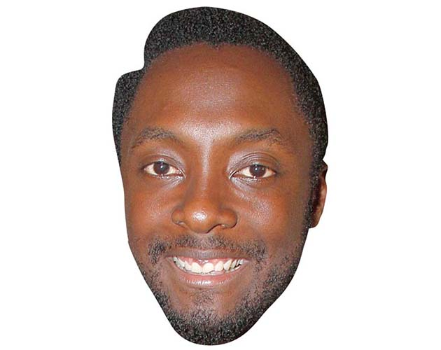 A Cardboard Celebrity Mask of Will I Am