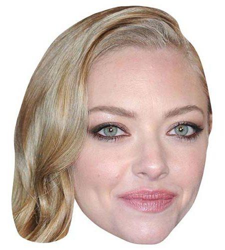 A Cardboard Celebrity Mask of Amanda Seyfried