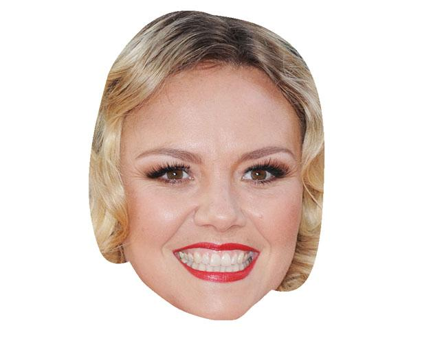 A Cardboard Celebrity Mask of Charlie Brooks