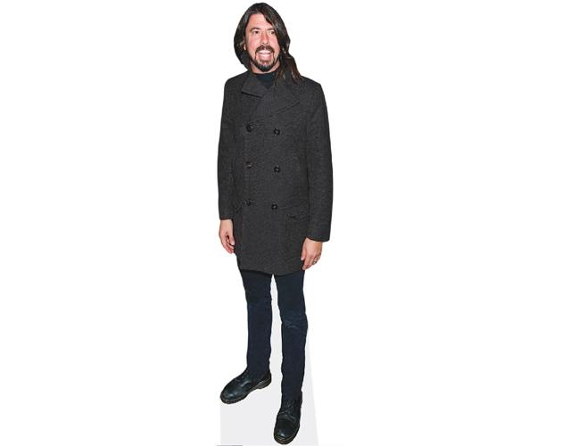 A Lifesize Cardboard Cutout of Dave Grohl wearing black