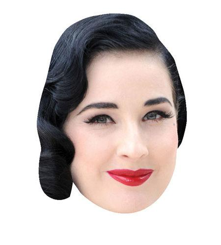 A Cardboard Celebrity Mask of Dita Von Teese