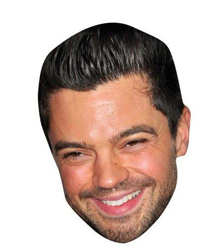 A Cardboard Celebrity Mask of Dominic Cooper