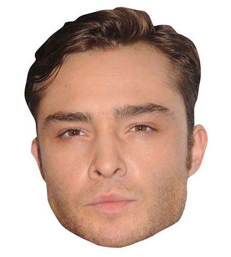 A Cardboard Celebrity Mask of Ed Westwick