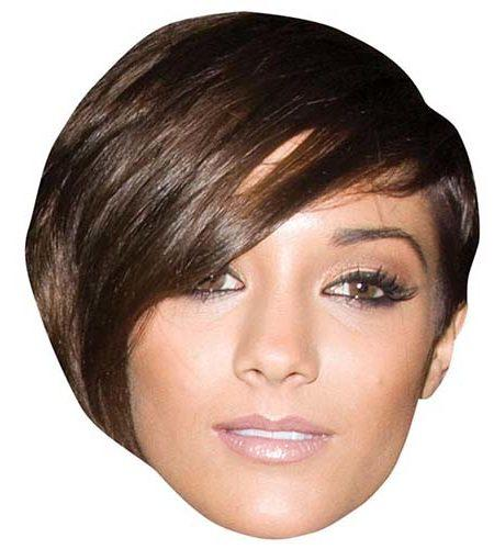 A Cardboard Celebrity Mask of Frankie Sandford