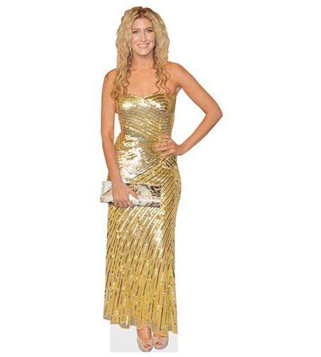 A Lifesize Cardboard Cutout of Francesca Hull wearing a long dress