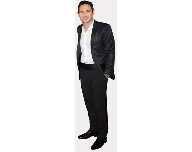 A Lifesize Cardboard Cutout of Frank Lampard wearing a dark suit