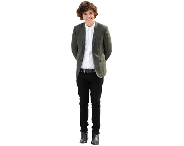 A Lifesize Cardboard Cutout of Harry Styles wearing a suit
