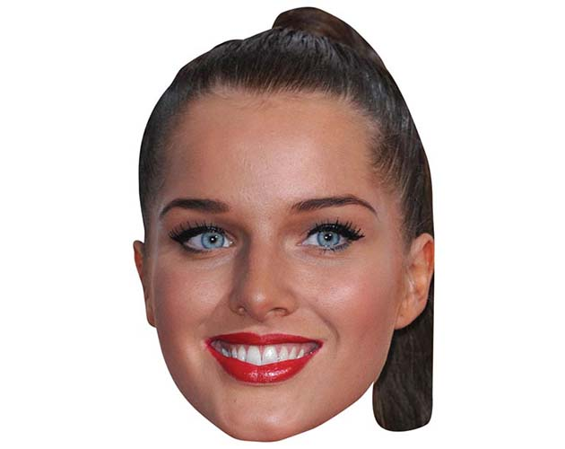 A Cardboard Celebrity Mask of Helen Flanagan