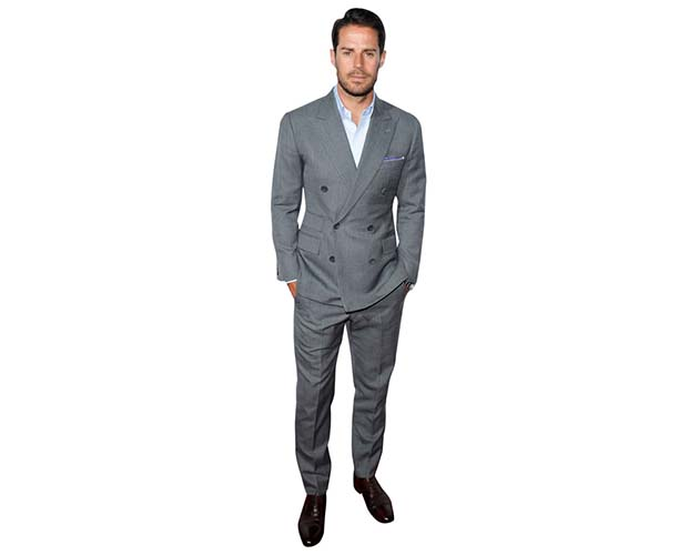A Lifesize Cardboard Cutout of Jamie Redknapp wearing a grey suit